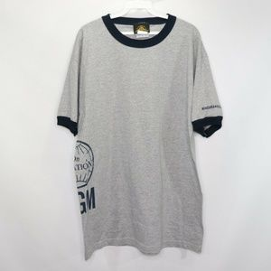 Vintage MGM Studios Spell Out Ringer Shirt Gray L